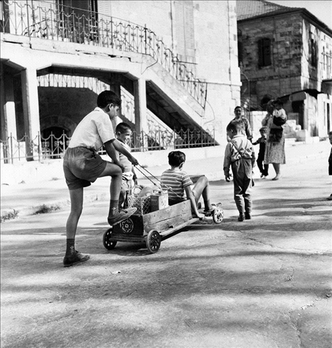 Children playing in Ha'ain Het st - 1960s