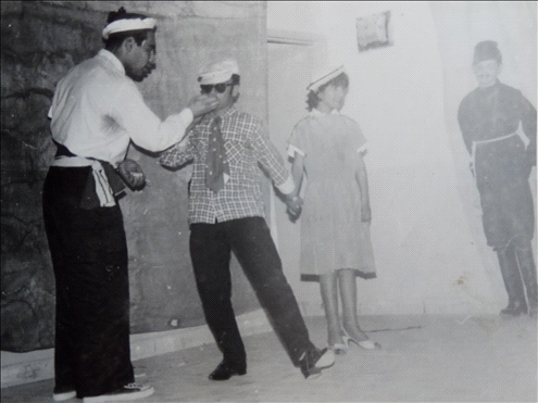 A Purim performance at the Malaban boarding school in the Arnona neighborhood